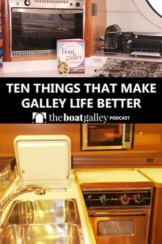 Ten Things to Make Galley Life Easier - A galley is a small, moving, generally unairconditioned place to cook . ten things that make turning out great food much easier! Sailboat Living, Living On A Boat, Sailboat Interior, Yacht Interior, Boat Organization, Liveaboard Sailboat, Cruiser Boat, Cabin Cruiser, Boat Cleaning