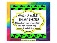 Walk A Mile in My Shoes Game- Students have to answer questions from another's point of view in this fun card or board game by Looks-Like-Language!  Bonus proverb level- explain how proverbs relate to human behavior!