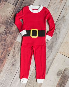 Celebrate the magic of the season with these fun Santa inspired two piece holiday  pajamas for 455b1a1d4