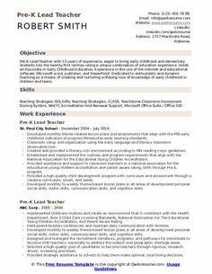 7 Pre K Teacher Resume 2 Student Resume Template, Resume Design Template, Preschool Teacher Resume, Teaching Strategies Gold, High School Resume, How To Make Resume, Accounts Payable, Resume Objective, Resume Skills