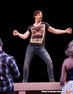 Christian Borle '91 plays Shakespeare in the new Broadway musical SOMETHING ROTTEN!