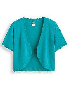 Blair Two Twenty Shrug Sweater--I love the subtle scalloped edging ...