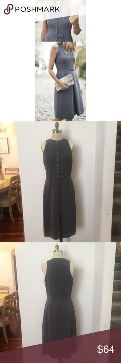 SALE BANANA REPUBLIC🌻 DRESS VINTAGE GRAY NWT BANANA REPUBLIC🌻BUTTON-FRONT CREPE POCKET DRESS- VINTAGE GRAY NWT SZ 8 Tall   Stock Photos included as the lighting on my photos appear a tad darker and not accurate fitting as it's a little big on my dress form 💕 Banana Republic Dresses Midi