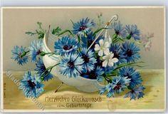 Prägedruck Geburtstag Blumen: Ansichtskarten-Center Onlineshop