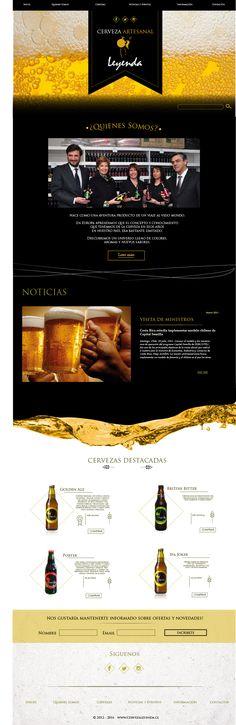 Trabajo para cervecería leyenda, diseñadora Paloma Barrenechea cerveza chilena, #web #design #diseño grafico #diseño web #designweb