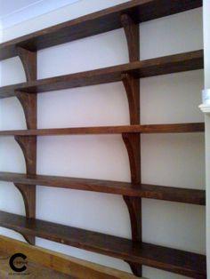 Custom made book shelves Book Shelves, Handmade Wooden, Bookcase, Creative, Furniture, Home Decor, Shelving Units, Decoration Home, Room Decor