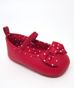 Take a look at this Red Bow Flat by Aadi on #zulily today!