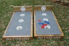 Custom Washer Board Pictures More (diy wedding reception corn hole) Diy Yard Games, Diy Games, Backyard Games, Backyard Projects, Outdoor Projects, Wood Projects, Outdoor Games For Kids, Indoor Games, Indoor Activities