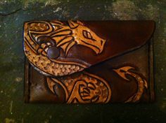 Leather+Dragon+Purse++FREE+UK+POSTAGE+by+darkagesleather1+on+Etsy,+£25.00