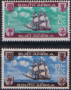 South Africa 1962 British Settlers Monument Set Mint SG 222 3 Scott 282 3 Condition Fine MNH Only one post charge South Afrika, Walter Mitty, Old Stamps, Postage Stamp Art, African History, East London, Stamp Collecting, British, Travel Oklahoma