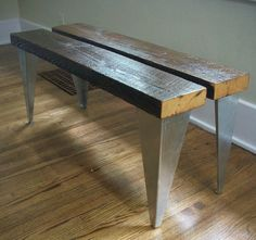 16+Industrial+Steel+Bench+Legs+a+modern+answer+to+by+HairPinner,+$15.00