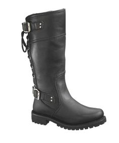 cc23db0cd50af9 Details about Harley-Davidson Women s Alexa Back Lace Black Leather  Motorcycle Boots D85167