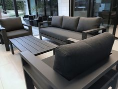 Modern Style stocks the latest unique & elegant Outdoor Furniture in New Zealand. Furniture Sofa Set, Diy Outdoor Furniture, Furniture Design, Wooden Sofa Set Designs, Garden Sofa Set, Diy Pallet Sofa, House, Cool Furniture, Pallet Ideas