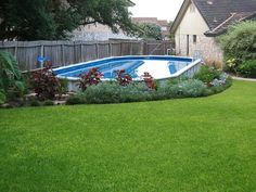 hide above ground pool | 18x40 Oval Pool | Flickr - Photo Sharing!