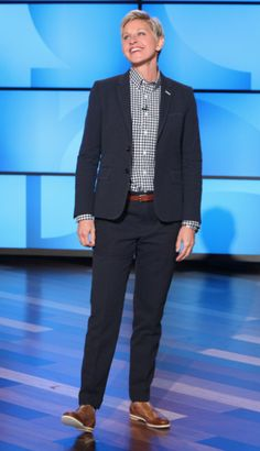 Shirt: Anto Suit: Dennis Kim Shoes: Rag & Bone Socks: Ellen Socks (found at The Ellen Shop!)