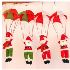 Christmas Decorations Hanging Christmas Decorations Parachute Santa Claus Snowman Ornaments For Christmas Indoor Decorations Xmas Gift