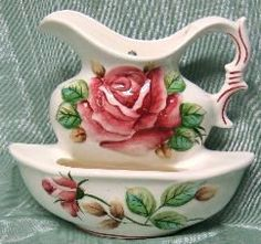 Lefton China Americana Wall Pocket Red Rose by ChinaLady on Etsy