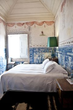 bedroom at Palacio Belmonte in Portugal via @Design*Sponge
