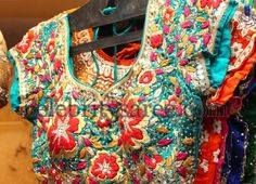Rich Blouse with Colorful Work | Saree Blouse Patterns