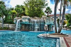 My top 10 - Sheraton Vistana Villages in Orlando, Florida. Close to the parks, fabulous pool.