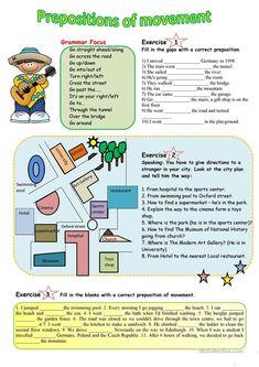 Prepositions of movement   Prepositions, Teaching english ...
