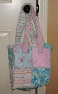 Tutorial for Rag Purse--Great way to use scrap fabric & an adorable way to make custom bags to match your outing. Easy handmade baby gift, possibly?
