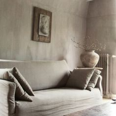Inside look at rural and Sober Living - Rural and Sober Living Living Spaces, Living Room, Wabi Sabi, Rustic Interiors, Beautiful Interiors, Home And Living, Sober Living, Slipcovers, Interior Inspiration