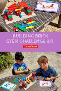 Kids have a blast with our Building Brick STEM Challenge Kit! From creating marble mazes to building bridges, kids will love taking on each exciting challenge. Building Bridges, Marble Maze, Steam Learning, Stem Skills, Stem Steam, Lego Group, Stem Challenges, Physical Science, Having A Blast