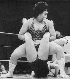 Japanese wrestler Devil Masami applying the Boston Crab