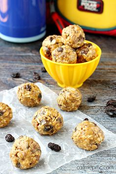 Homemade Oatmeal Raisin Energy Balls