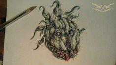 cabeza de monstruo macabro\#30 by DAVIDtheMASTER
