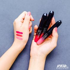 Perfect your luscious pout with these lip lacquers! We've swatched - Celestial, Apocalyptic & Stellar. Which one is your fav?  Shop these at amazing prices (shop link in bio) #NykaaLoves #Swatches #Makeup #Review #InstaGood #Love #Beauty #Lipstick