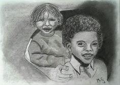 Veilig in Jezus' armen... Idee van de reclame foto van EO Metterdaad. Het kleinste kind is niet helemaal gelukt, maar het idee is mooi.