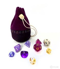 the drow - genuine leather dice pouch | r-n-w