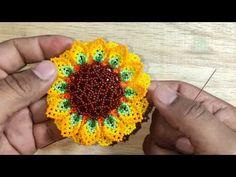 Jewlery, Crochet Earrings, Videos, Youtube, Flowers, Pattern, Molde, Earring Tutorial, Beaded Flowers