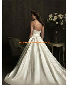 Preiswerte Schönste Brautkleider aus Satin mit Appplikation