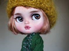 Pumpkin custom ooak icy doll unique art doll by AlmondDoll