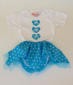 f10c588ee2 Baby Toddler 12 Months Girl Onsie With Matching Polka by Sunjunki