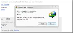 IDM Integration Problem for Browser after Update