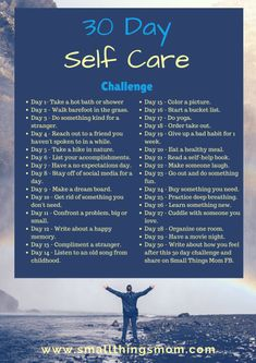 June 30 Day Self Care Challenge - Small Things Mom