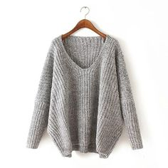 women thicken v-neck sweater 2016 european style sexy green sweater women vintage batwing sleeve loose knitted pullover sweater