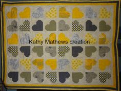 How to make a heart quilt | Quilting! Sewing! Creating!  Blog includes a pdf pattern to download.