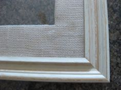 Mat frames. something to do with all that burlap