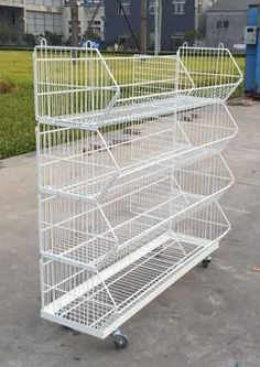 stackled wire basket stand, fold cage stand with wheels, more items @ http://www.store-equip.com/product/product.php?lang=en&class2=55