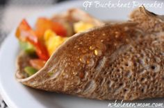 Gluten Free Wraps   Buckwheat Galettes (Buckwheat Pancakes)    (vegan option) -- though I'm going with a lower carb golden flax seed flour instead buckwheat.