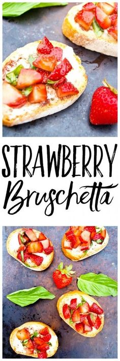 This Strawberry Bruschetta is a healthy and easy appetizer that is perfect for summer entertaining! This is a quick recipe that everyone raves about.