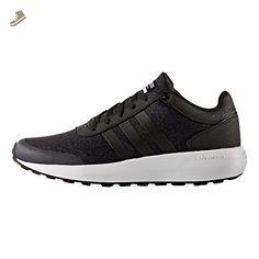 adidas Women's NEO Cloudfoam Race Sneaker,Black/Black/White,US 5 M - Adidas sneakers for women (*Amazon Partner-Link)