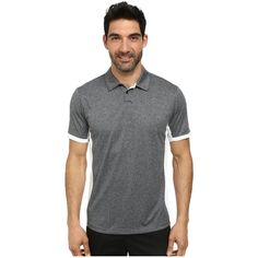 Nike Golf Victory Block Polo (Black/Heather/White/Wolf Grey) Men's... ($36) ❤ liked on Polyvore featuring men's fashion, men's clothing, men's shirts, men's polos, grey, mens grey shirt, mens long sleeve polo shirts, mens white long sleeve shirt, mens short sleeve polo shirts and mens grey polo shirts
