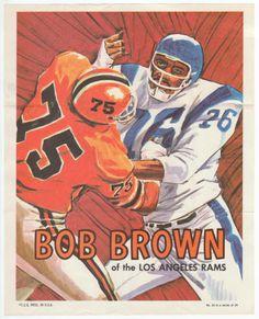 1970 Topps Insert Poster  24 Bob Brown Ex M  6.40 Nfl Hall Of Fame 588e6ecd4