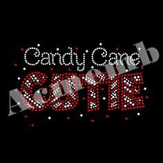 Candy Cane Cutie Hotfix Xmas Rhinestone Wholesale Transfers Iron On Accessories For Garment